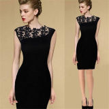 Сексуальное Women Crochet Bodycon Cocktail Mother Bride Dress