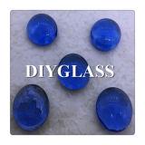 高品質の青いガラス宝石