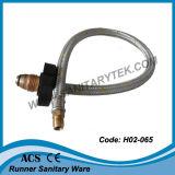 Le gaz tressé de fil en aluminium arrose au jet (H02-065)