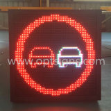 Muestra al aire libre de la visualización del tráfico de camino del regulador P16 LED de la toma