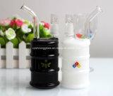 Bestes verkaufendes schwarzes Farben-Ölplattform-rauchendes Glaswasser-Rohr mit der 4mm Stärke