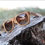 Lunettes de soleil en bois de marque simple fabriquée à la main (FX15032)