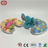 고양이 코끼리 아기 목 지원 연약한 장난감 견면 벨벳 베개