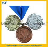 идущее медаль заливки формы 5k с тесемкой
