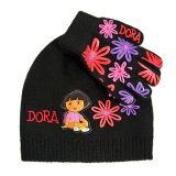 Chapeau et gants tricotés réglés (JRK096, JRK097)