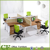 Staff Workstation를 위한 직물 Desktop Partition Modern Office 4 Person Desk