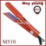 Раскручивателя волос изготовления M510 утюг профессионального дешевого плоский