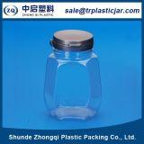 Tarro plástico del animal doméstico con la tapa de la seguridad para el alimento