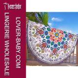 Tassel White Round Blanket Printed Beach Towels (L38359)