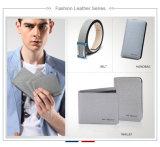 Bolsa Bifold feita sob encomenda da carteira do couro genuíno dos homens da fábrica experiente