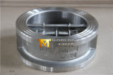 Válvula de verificação dupla da placa da bolacha CF8 com ISO Wras do Ce aprovado
