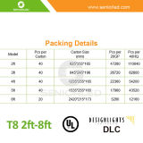 UL Dlc List를 가진 T8 LED Tube/T8 LED Light