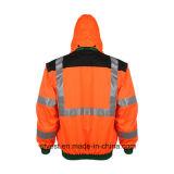 Revestimento reflexivo da segurança do Workwear elevado da visibilidade com ISO do En