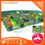 Zwei Fußboden-Kind-freches Plastikschloss-Innenspielplatz