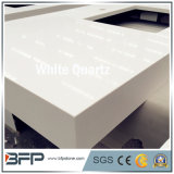Kunstmatige Countertop van het Kwarts van de Steen Witte voor de Zaal van de Keuken