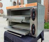 Popular Modelo Double Deck 2 bandejas eléctrico Pizza de pan de panadería Horno para la venta