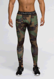 Sports de camouflage de pantalon de compression courant le survêtement pulsant de guêtres de gymnastique (AK2015008)
