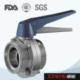Valvola a farfalla saldata di plastica di trasformazione dei prodotti alimentari della maniglia dell'acciaio inossidabile (JN-BV1012)