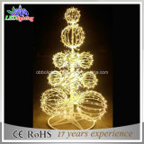 3D Openlucht Purpere Boom van de Bal van Kerstmis met LEIDENE Waterdichte Lichten