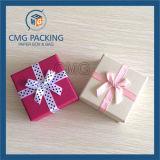 Caixa de jóia vermelha da fita com inserção da esponja (CMG-PJB-131)
