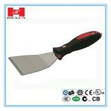 Flexibler Edelstahl-Schaber, Kitt-Messer mit weichem Griff
