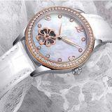 호화스러운 숙녀 시계 기계적인 시계 강철판 결박 시계