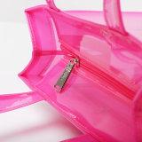 Bolso impermeable de las mujeres de la jalea del color del caramelo del bolso de hombro del PVC (H033)
