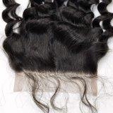 Encierros rizados 100% del cordón del enrollamiento de la pieza media del pelo de la Virgen