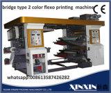 Dos colores doblan la impresora de Flexo del color de la estación de trabajo 2
