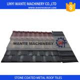 Mattonelle di tetto di alluminio Pietra-Rivestite delle mattonelle di tetto del metallo del Brown del materiale da costruzione