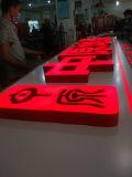 Letra e sinal acrílicos plásticos de canaleta do diodo emissor de luz