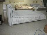 S131 نوم تصميم بسيط جلد سرير مزدوج