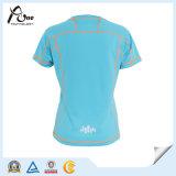 Frauen-unbelegtes schnelles trockenes Shirt-Zoll-T-Shirt