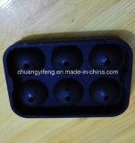 球形の6つの穴のシリコーンゴムの立方体の氷型