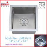 R10角の正方形のハンドメイドの流しは、手作りする流し、304ステンレス鋼の台所の流し(HMRS1414)を