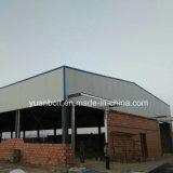 Costruzione prefabbricata lunga del magazzino della struttura d'acciaio della portata in Africa