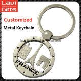 Catena chiave del metallo 3D del regalo di promozione dell'oro del ricordo su ordinazione della Torre Eiffel
