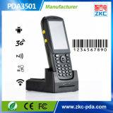 Programa de lectura Handheld androide del explorador RFID del código de barras de Zkc PDA3501 3G PDA