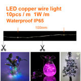 Fio do diodo emissor de luz Coper da luz de tira 10 do diodo emissor de luz