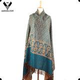 Grosse Größen-Polyester-Baumwollgemischte ethnische Art warmer Pashmina Schal-Schal
