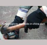 Mécanicien micro Glove-7215 de paume renforcé par PVC de fibre