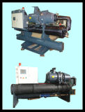 Industrieller abkühlender Maschinen-Wasser-Schrauben-Kühler verwendet für die Milchkühlung