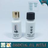Bouteille en verre blanche opale d'huile essentielle