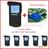 Verificador do álcôol da respiração do LCD do verificador do álcôol do sensor da célula combustível do verificador do álcôol da respiração de Digitas