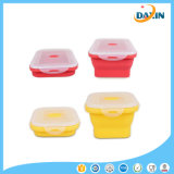 Faltbare Silikon-Mittagessen-Kästen 4 Größen-Nahrungsmittelvorratsbehälter steuern Küchenbedarf automatisch an