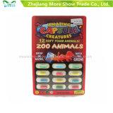 L'animal croissant magique de zoo capsule des jouets augmentant la capsule de mousse d'éponge