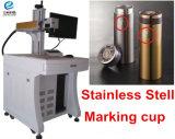 Tipo da marcação do laser, máquina da marcação do laser da fibra da tubulação de aço, máquina de impressão da marcação do laser da fibra do rolo nos cilindros dos Ss Rod
