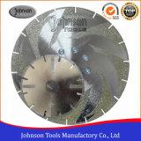 105-300mm a plaqué le diamant scie la lame pour le découpage de marbre