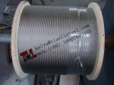 cable del acero inoxidable de 6X19s Iwrc