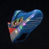 يجعل في الصين مصنع أطفال [رولّر سكت] أحذية مع عجلات قابل للانكماش, جدي رياضة يبيطر بكرة حذاء رياضة لأنّ فتى بنات سعر